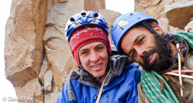 David Fay and Gustavo climbing on Aguja Frey